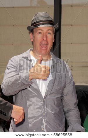 Bob Odenkirk at the Bryan Cranston Star on the Hollywood Walk of Fame Ceremony, Hollywood, CA 07-16-13