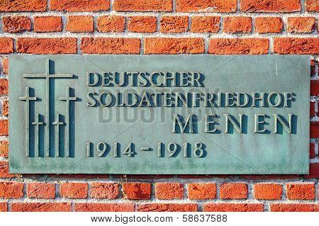 German cemetery friedhof in flanders fields menen belgium poster
