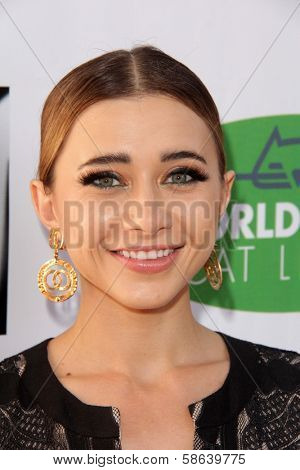 Olesya Rulin at L.A.'s Feline Rescue Center's