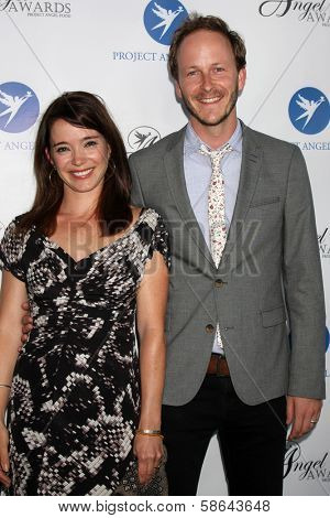 Marguerite Moreau and Christopher Redman at the Project Angel Food Angel Awards, Project Angel Food, Los Angeles, CA 08-10-13