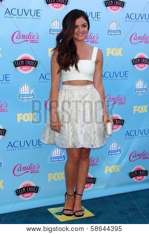 Lucy Hale at the 2013 Teen Choice Awards Arrivals, Gibson Amphitheatre, Universal City, CA 08-11-13