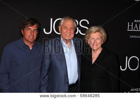Garry Marshall, Barbara Marshall and Scott Marshall at the