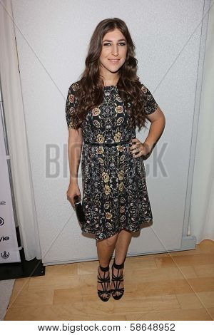 Mayim Bialik at the 12th Annual InStyle Summer Soiree, Mondrian, West Hollywood, CA 08-14-13