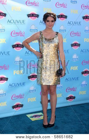Maia Mitchell at the 2013 Teen Choice Awards Arrivals, Gibson Amphitheatre, Universal City, CA 08-11-13