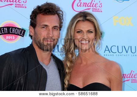 Erin Andrews and Jarret Stoll at the 2013 Teen Choice Awards Arrivals, Gibson Amphitheatre, Universal City, CA 08-11-13