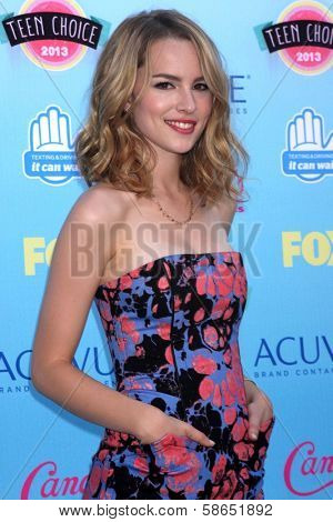Bridgit Mendler at the 2013 Teen Choice Awards Arrivals, Gibson Amphitheatre, Universal City, CA 08-11-13