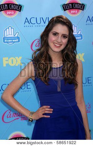 Laura Marano at the 2013 Teen Choice Awards Arrivals, Gibson Amphitheatre, Universal City, CA 08-11-13