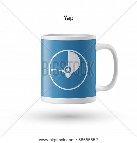 Yap flag souvenir mug on white background.
