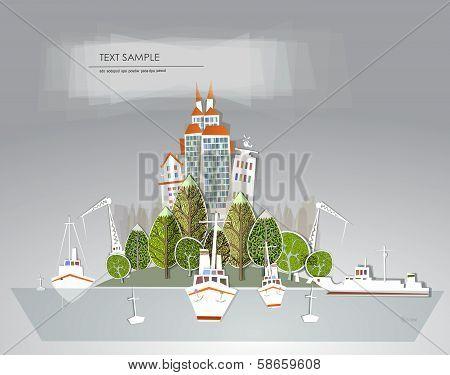 Port on the island,