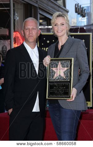 Ryan Murphy, Jane Lynch at the Jane Lynch Star on the Hollywood Walk of Fame Ceremony, Hollywood, CA 09-04-13