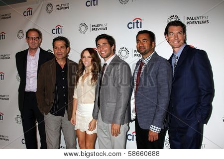 Rob Greenberg, Tony Shalhoub, Rebecca Breeds, Chris Smith, Kal Pen and Jerry O'Connell at the PaleyFest Previews:  Fall TV CBS -