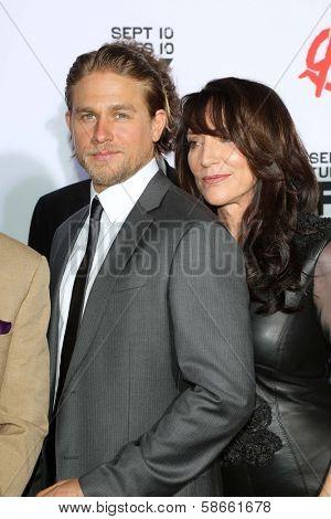 Charlie Hunnam and Katey Sagal at the