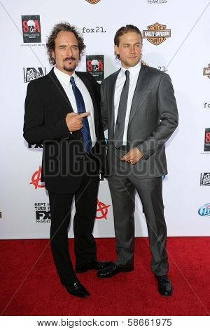 Kim Coates and Charlie Hunnam at the