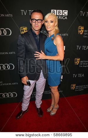Victoria Smurfit and Douglas Baxter at the BAFTA Los Angeles TV Tea 2013, SLS Hotel, Beverly Hills, CA 09-21-13