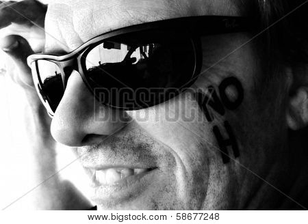 Michael Biehn behind the scenes of an Adam Bouska NOH8 Photo Shoot, Private Location, Los Angeles, CA 10-01-13