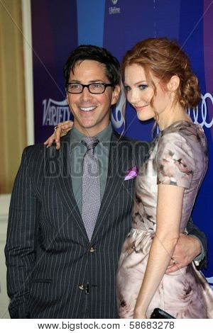 Dan Bucatinsky and Darby Stanchfield at Variety's 5th Annual Power of Women, Beverly Wilshire, Beverly Hills, CA 10-04-13