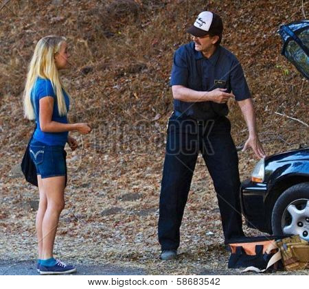 Evie Thompson and Michael Biehn Behind The Scenes of