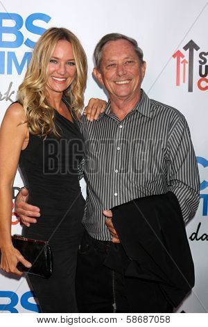 Sharon Case, father Jim Case at the CBS Daytime After Dark Event, Comedy Store, West Hollywood, CA 10-08-13