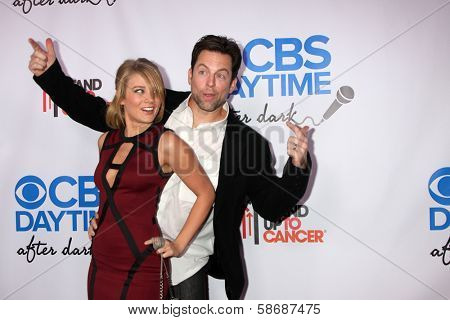 Michael Muhney and Kim Matula at the CBS Daytime After Dark Event, Comedy Store, West Hollywood, CA 10-08-13