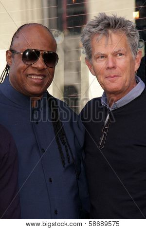Stevie Wonder and David Foster at the Kenny