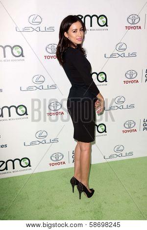 Christian Serratos at the 23rd Annual Environmental Media Awards, Warner Brothers Studios, Burbank, CA 10-19-13