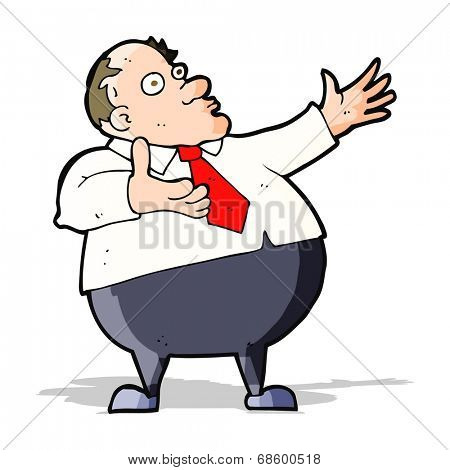 cartoon exasperated middle aged man