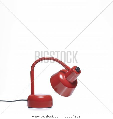 Desk lamp. Red Color