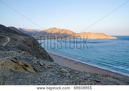 Egypt, Taba, A View Of The Gulf Of Aqaba