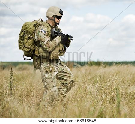 Soldier in patrol