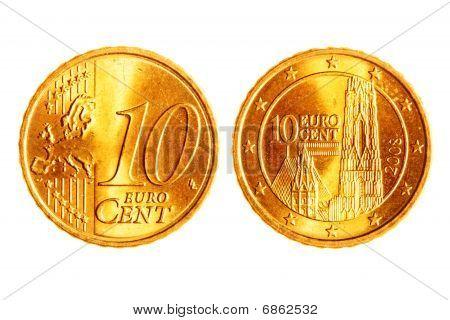 Ten Euro Cents Coins