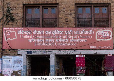 Maoist Party Headquarters In Dhulikhel, Nepal