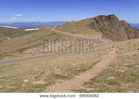 Summit Road on Pikes Peak, Colorado 14er