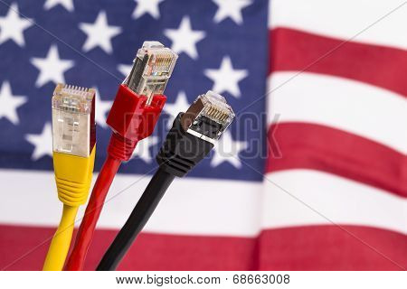Three network cable