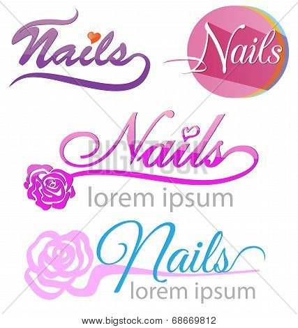 Nails Saloon Symbol Set