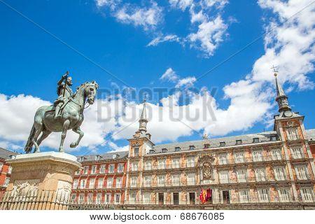 Plaza Mayor in Madrid , Spain