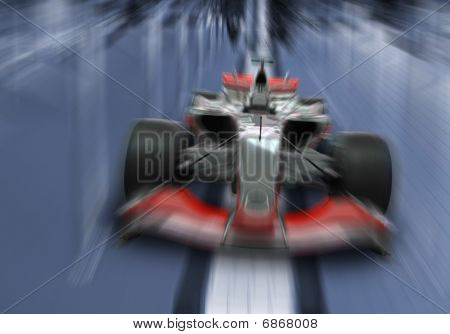 Speeding Formula One Car - Speed Concept