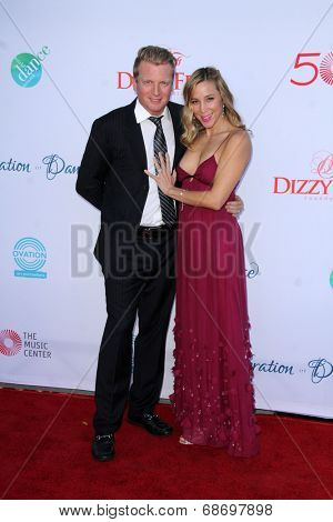 LOS ANGELES - JUL 19:  Kris Lythgoe, Becky Lythgoe at the 4th Annual Celebration of Dance Gala at Dorothy Chandler Pavilion on July 19, 2014 in Los Angeles, CA