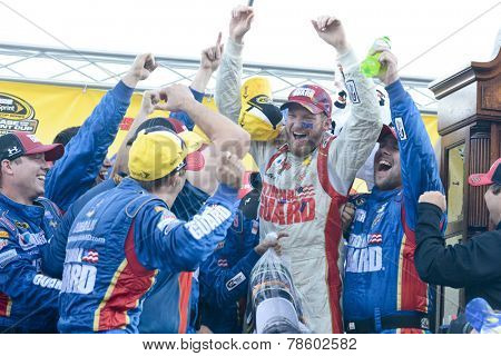 Martinsville, VA - Oct 26, 2014:  Dale Earnhardt Jr. (88) wins the Goody's Headache Relief Shot 500 at Martinsville Speedway in Martinsville, VA.