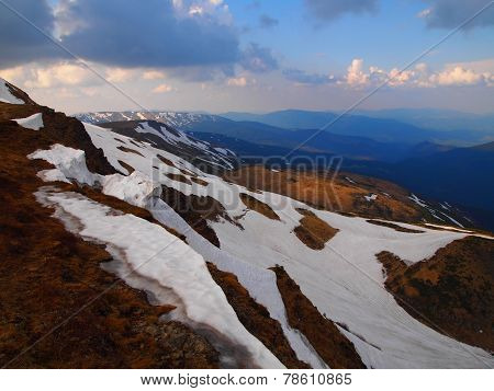 Carpathian mountains 9 under snow in spring
