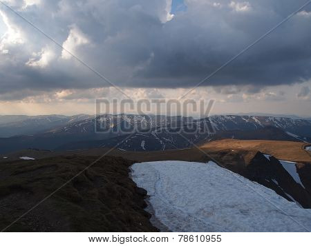 Carpathian mountains 20 under snow in spring
