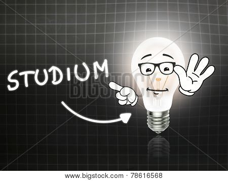 Studium Bulb Lamp Energy Light Blackboard