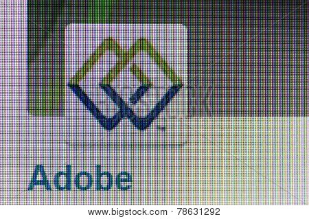 Logo And The Page Of Adobe