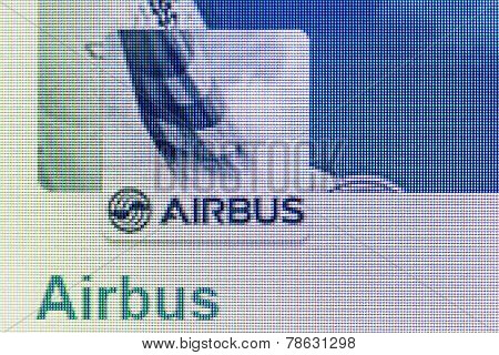 Airbus Logo On The Screen