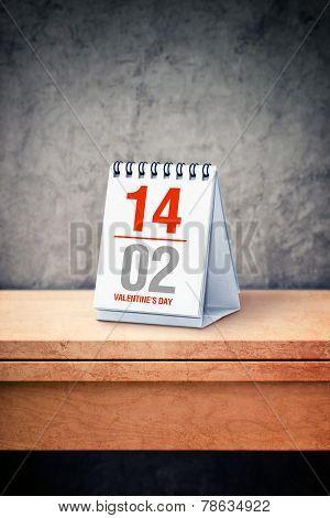 Valentine Day Calendar Concept