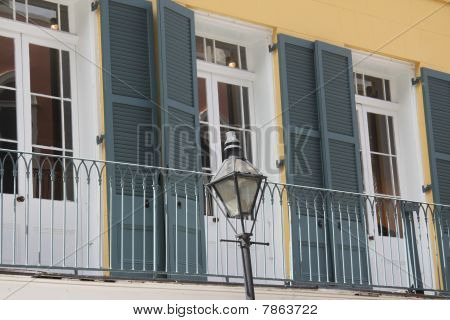New Orleans French Quarter Lamp & Balcony