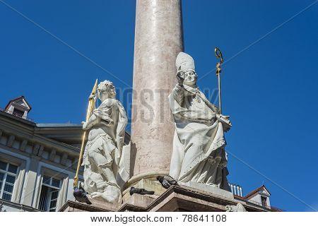 Saint Anne Column In Innsbruck, Austria.