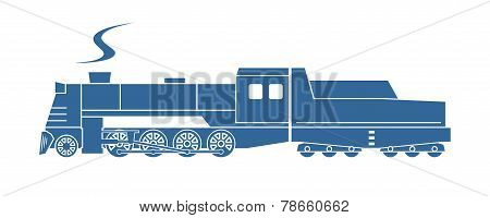Steam Locomotive With Tender