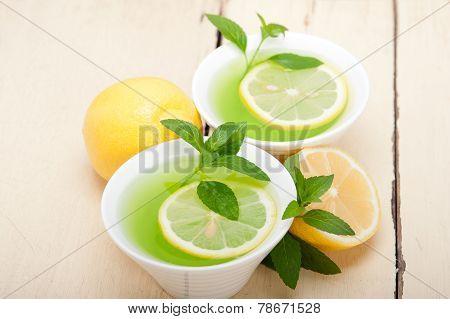 Mint Infusion Tea Tisane With Lemon