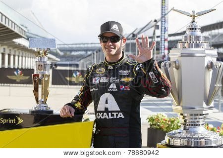 Indianapolis, IN - Jul 27, 2014:  Jeff Gordon (24) wins the