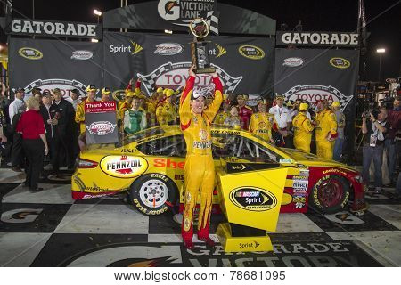 Richmond, VA - Apr 26, 2014:  Joey Lagano (22) wins the